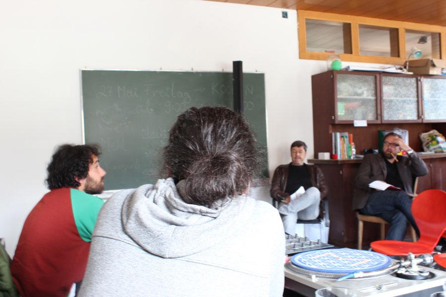 links Ingo Schneider (Institut für Geschichtswissenschaften und Europäische Ethnologie) und rechts Dirk Rupnow (Institut für Zeitgeschichte)
