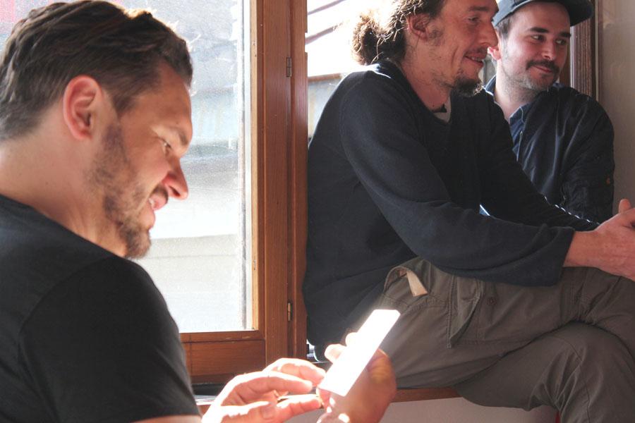 von links nach rechts: David Reumüller, Albrecht Dornauer und Al Bird Sputnik
